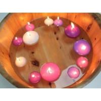 Plavajoča svečka - barva sivke