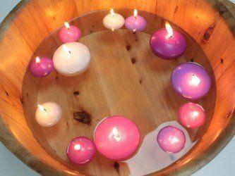 Plavajoča svečka - bela