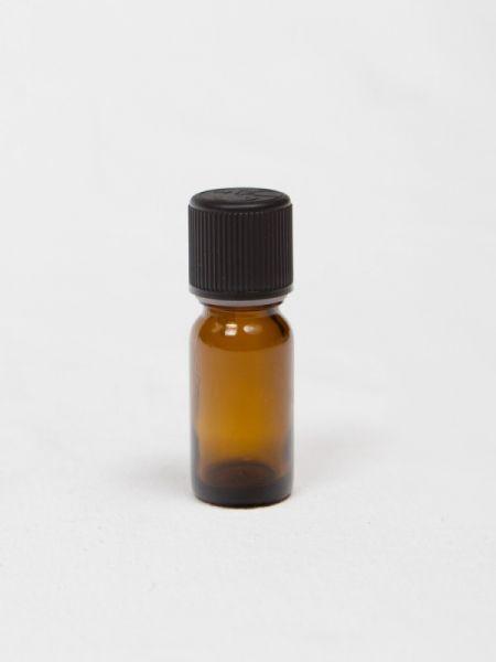 Steklenička - rjava, 10 ml, s črnim pokrovčkom in kapalko